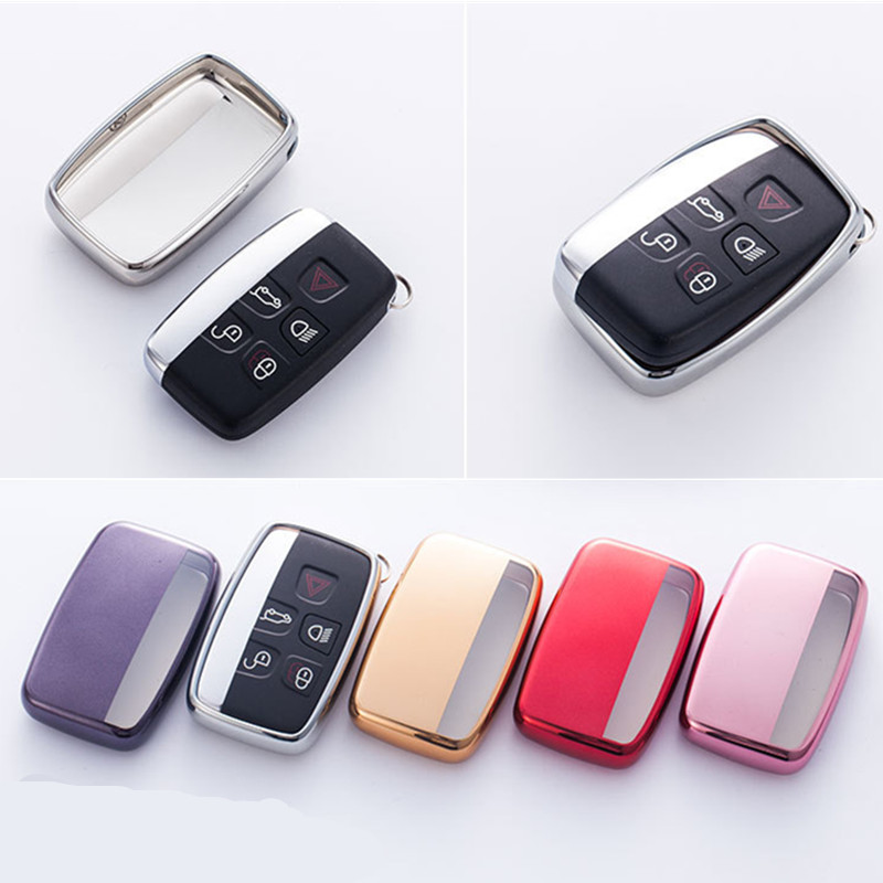 Soft TPU Car Key Case Cover For Land Rover A9 Range Rover Sport Evoque Freelander 2 Jaguar XE XJ XJL XF C-X16 V12 Guitar F X Typ