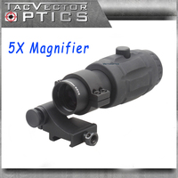 Vector Optics 5x Magnifier Fit For Red Dot Scope With Flip To Side QD Weaver Mount
