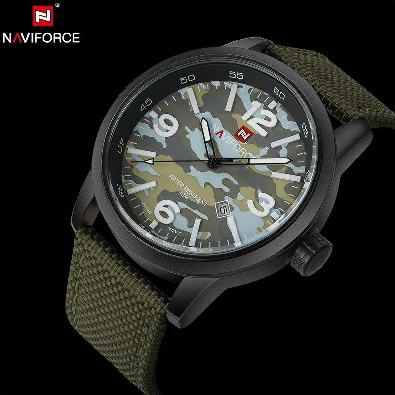 Prix pour NAVIFORCE D'origine Marque De Luxe Sport Militaire Quartz Montre Homme Analogique Date Horloge Sangle En Nylon Montre-Bracelet Relogio Masculino