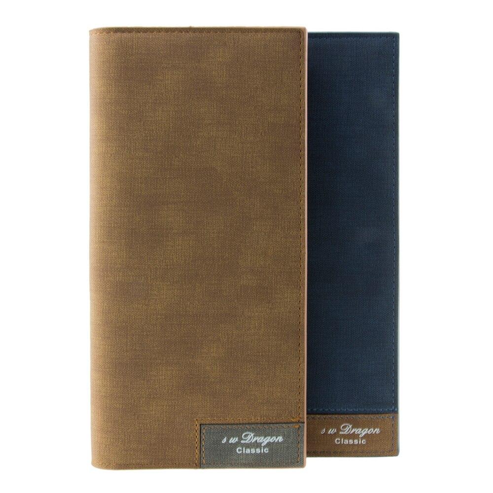 Soft Mans Leather Wallet Men Long Wallet Simple Bifold Wallet Card Holder Photo Holder Cash Purse Fashion Male Gift Wallet