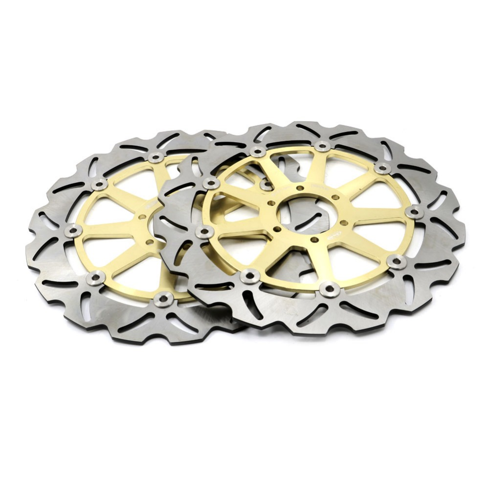 Motorcycle 320MM Front Brake Disc Rotors For Yamaha TZR125 FZX TDR TZR 250 SRX 400 FZR 750R FZR1000 XJR1200 Golden Braking motorcycle front and rear brake pads for yamaha fzr 400 fzr400 3en1 1988 brake disc pad