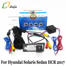 Laijie Car Backup Camera For Hyundai Solaris Sedan HCR 2017 / HD Night Vision Auto Reverse Parking Rear View Camera NTSC PAL