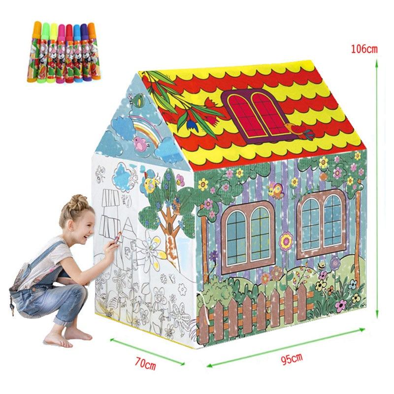 2018 Nieuwe Kinderen Speelgoed Tenten Kids Play Tent Jongen Meisje Prinses Kasteel Indoor Outdoor Kids Play House Bal Pit Pool speelhuisje voor Kinderen - 3