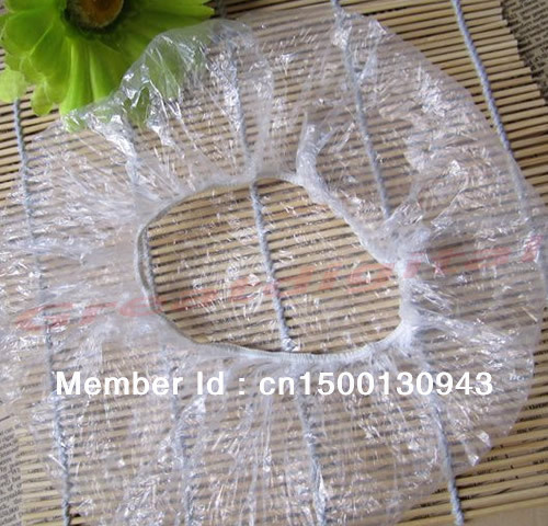 New 100 x Disposable One-off Hotel Shower Bathing Clear Hair Elastic Caps Hats