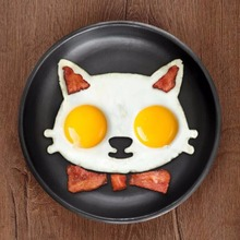 1 pcs Kitchen Silicone Cats Egg Shaper Cats Fried Eggs Mould Cute Interesting Mould 2016 New Arrival