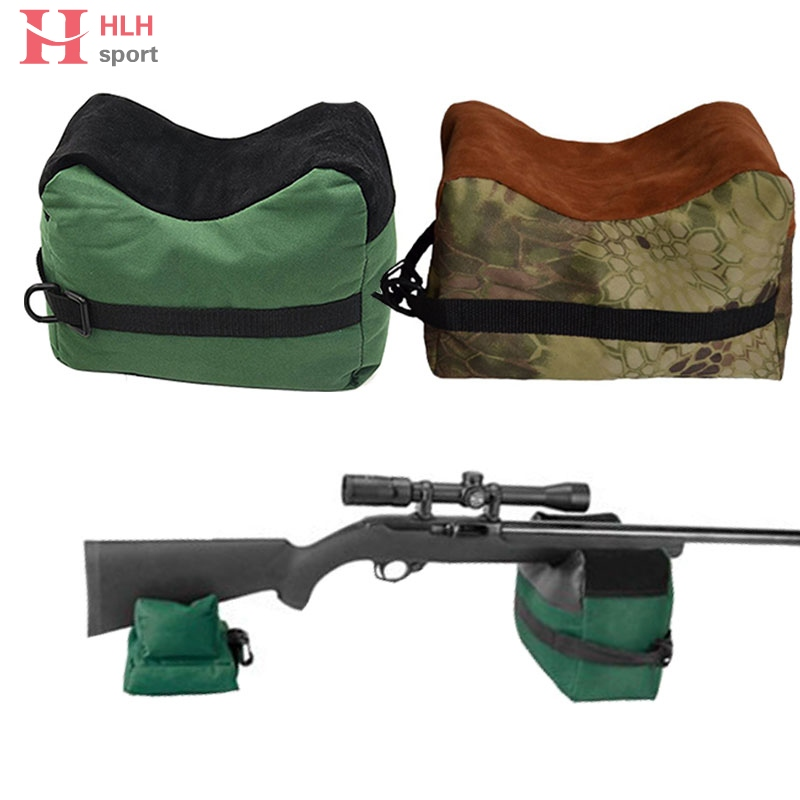 Hlhsport Portable Shooting Rear Front & Rear Gun Rest Bag Rifle Target Unfilled Nylon Para Tiro Hunting Bench Hunting Accessorie