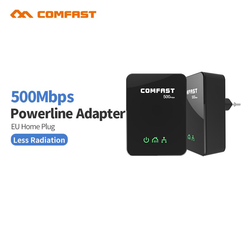 Prix pour 2 pcs/paire 500 Mbps Mini PLC Gigabit réseau modem Ethernet UE homeplug Puissance ligne COMFAST CF-WP500M Mini plc Adaptateur Powerline