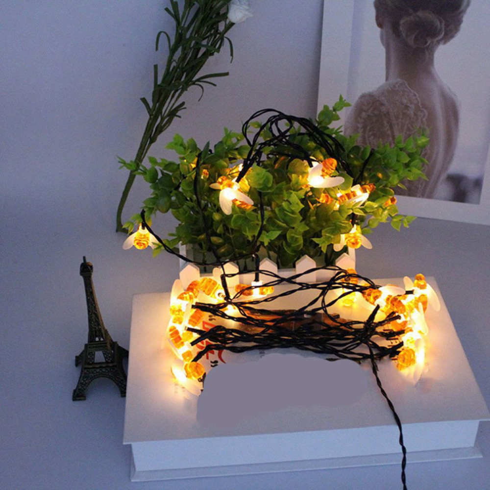 Creative 30 LED Light String Honey Bee LED String Party ...