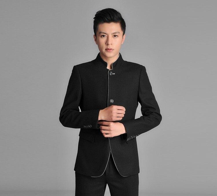 Chinois Color Costume De Marque Picture Usure Hommes Slim Custom Mode 2017 Tuxedo Costumes Fit Noir Marié Tunique Bal Mariage Blazers Pantalon veste q1xwOtfEZn