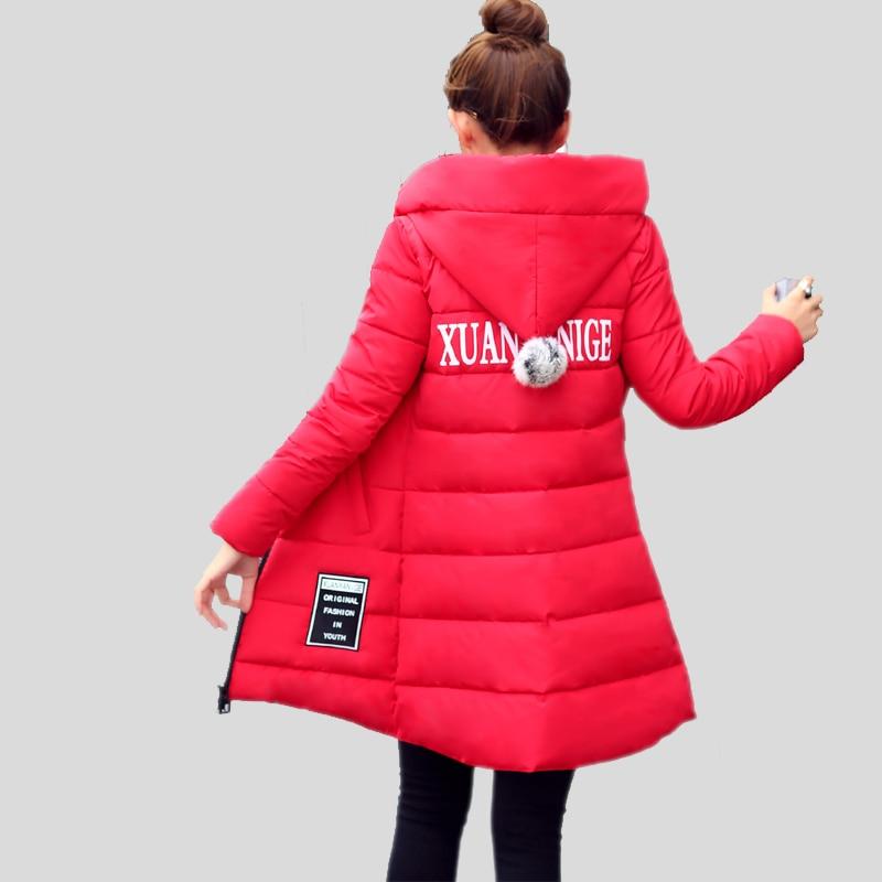 Cotton women parka winter warm jacket 2017 Fashion casaco feminino coats hooded plus size 3XL ladies outerwear slim long parkas winter women cotton full long coats jacket 2017 new clothing plus size top hooded casaco feminino fashion abrigos mujer k192 b1