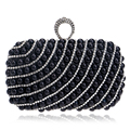 Finger Ring Diamonds Women Evening  Bags Beaded Small Purse Chain Shoulder Handbags Day Clutches Evening Bags