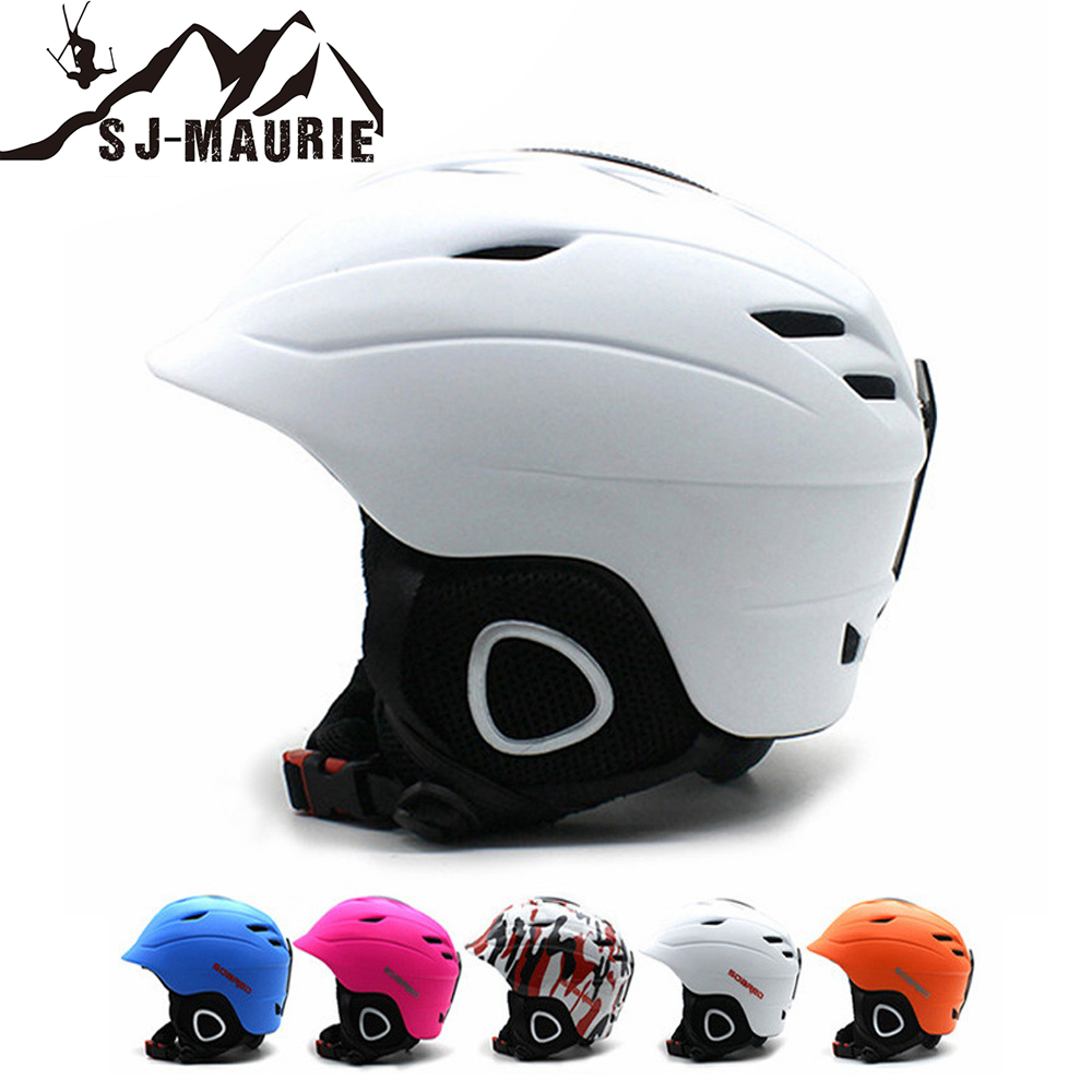 цена SJ-Maurie 2018 Professional Ski Helmet Integrally-molded Snowboard Helmet 6 Colors Men Women Skating Skateboard Skiing Helmet