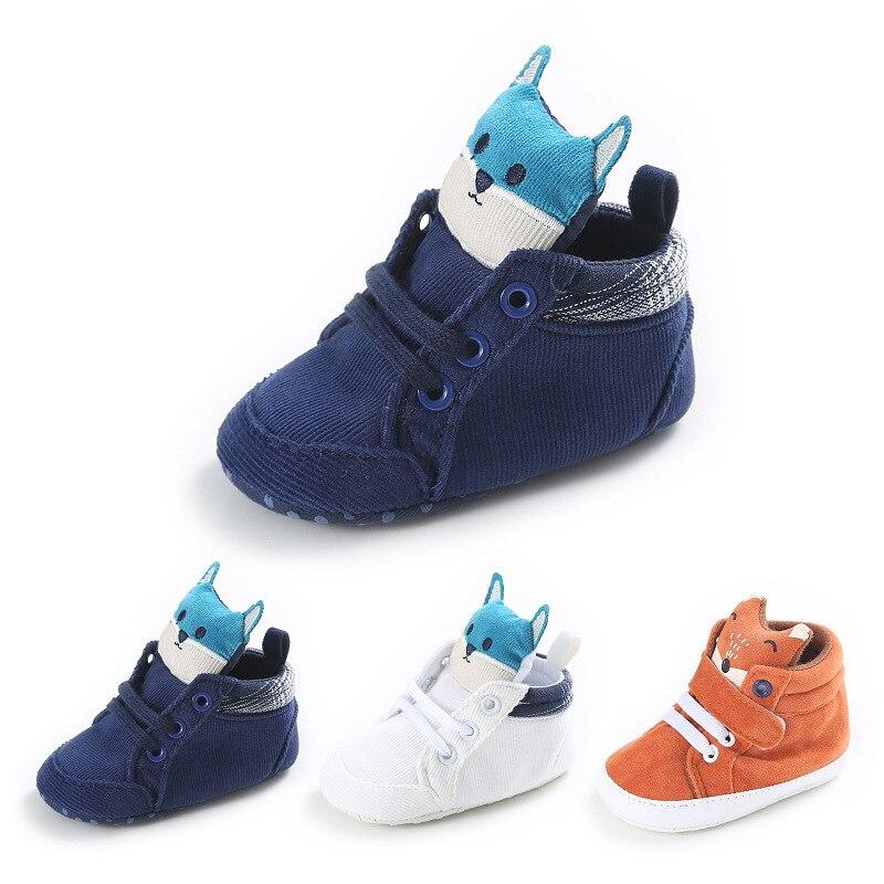 2017 Bonito Fox Inverno Primavera e Outono Novo 0-1 Anos de Idade Sapatos de Bebê Sapatos de Bebê Aprendendo A Andar venda