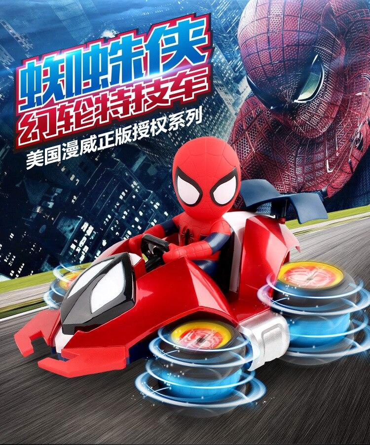 Marvel nouveaux enfants Spiderman dérive RC voiture jouet télécommande électrique jouets voiture mignon Spiderman dessin animé cascadeur voiture jouet garçon fille cadeau