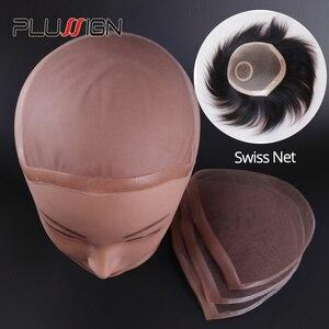 Image 1 - Plussign swiss laço padrão net para fazer peruca toupee fechamento superior fundação acessórios de cabelo monofilamento estocagem peruca boné