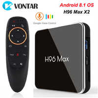 H96 MAX X2 Android TV Box 8.1 4GB 64GB S905X2 1080P H.265 4K Google Store Netflix Youtube H96MAX 2G16G Smart TV box Media Player