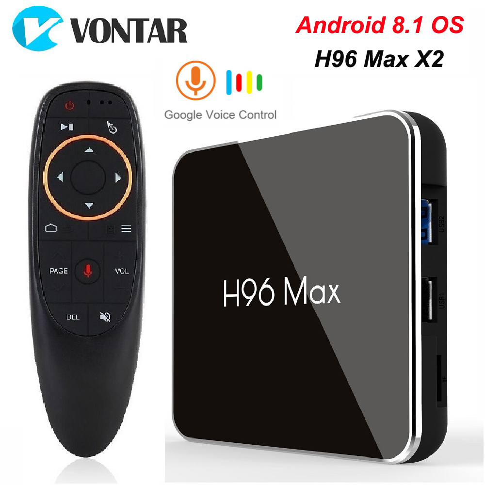 H96 MAX X2 Android TV Box 8.1 4GB 64GB S905X2 1080P H.265 4K Google Store Netflix Youtube H96MAX 2G16G Smart TV box lecteur multimédia