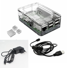 Elecrow Raspberry Pi 3 Kits 4 In 1 Clear Case+EU Plug Power+2pcs Heatsinks and Micro USB with On/Off Switch DIY Starter Kit