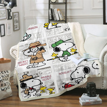 Snoopy Life 3D Printed Sherpa Blanket Couch Quilt Cover Travel Youth Bedding Outlet Velvet Plush Throw Fleece Blanket Bedspread