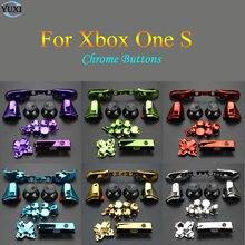 YuXi yedek parça tamir krom ABXY Dpad tetikleyicileri tam düğmeler seti kitleri denetleyici Mod Xbox One için Xbox One S