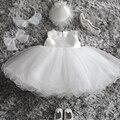 Bebê recém-nascido princesa crianças roupa traje do partido tulle vestido de baptizado bebê menina wedding dress baby dress menina de aniversário 1 ano