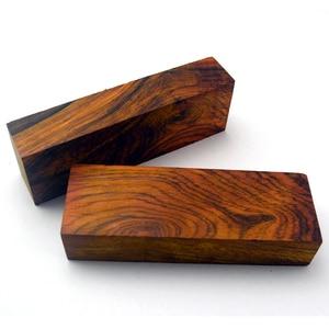 Image 3 - EDC manche de couteau en bois puce matériau de couteau bricolage cœur en bois
