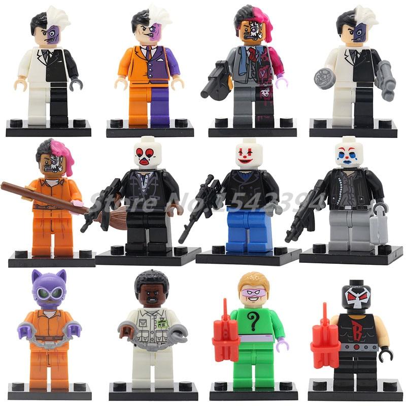 Wholesale The Joker Bandit Gangs Super Heroes Action Model 20pcs/lot  Prison Catwoman Building Block Bricks Toys For Children the ghost prison