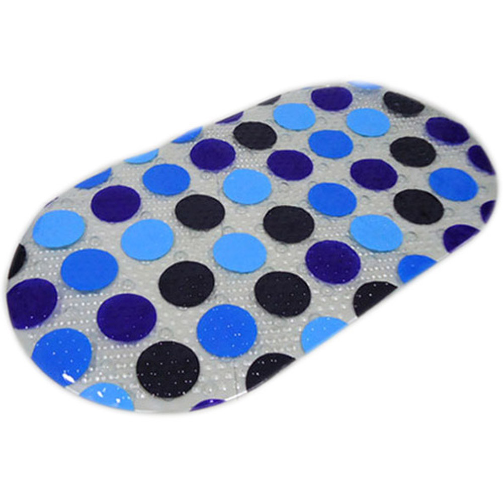 2017 ISHOWTIENDA Fashion PVC Non Slip Shower Mat Bathroom Floor Mat with Suction Cups Safety Top