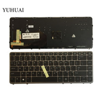 US New English laptop keyboard For HP EliteBook 840 G1 850 G1 ZBook 14 HP 840 G2 Silver backlight with pointing stick