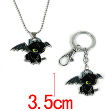 How to Train Your Dragon toys figures keychain New Fashion Cute Toothless Necklace Pendant keyring for