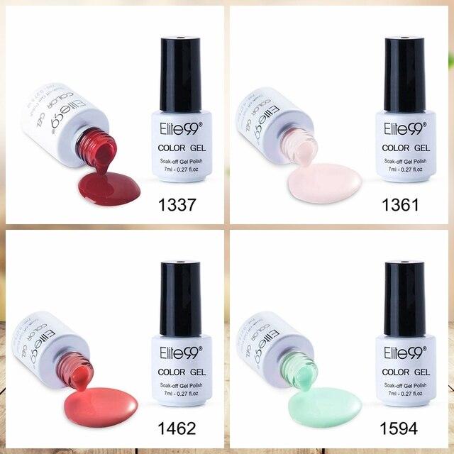 Elite99 7ml Gel Nagellack Hybrid Lack Alle Für Maniküre Semi Permanent Nail art Gel Nagellack Tränken Weg gellak Top Mantel