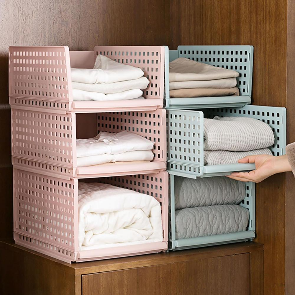 Plastic Clothes Drawer Organizer and Large Capacity Closet Divider Box in Breathable Hollow Design