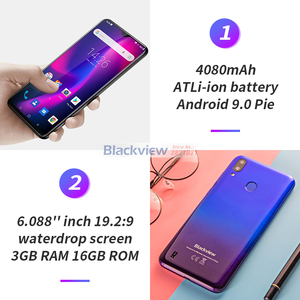 """Image 4 - Blackview A60 Pro 6.088"""" Waterdrop Screen Mobile Phone Android 9.0 4080mAh MTK6761 Dual Rears Cameras 4G Cellphone"""