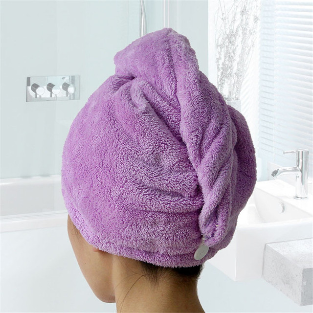 GIANTEX Women Bathroom Super Absorbent Quick-drying Microfiber Bath Towel Hair Dry Cap Salon Towel 25x65cm U0755