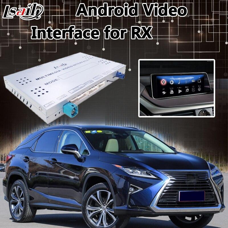 Android 6.0 Lvds Interface Vidéo pour Lexus RX 2013-2018 Contrôle de La Souris, GPS Navigation Mirrorlink RX200T RX270 RX450h RX350
