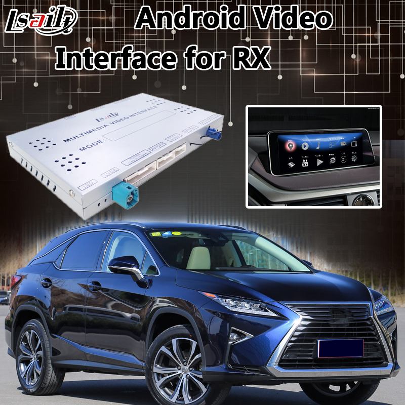 Android Interface De Vídeo Lvds para Lexus RX 2013-2019 Controle Do Mouse, Navegação GPS Mirrorlink RX200T RX270 RX450h RX350