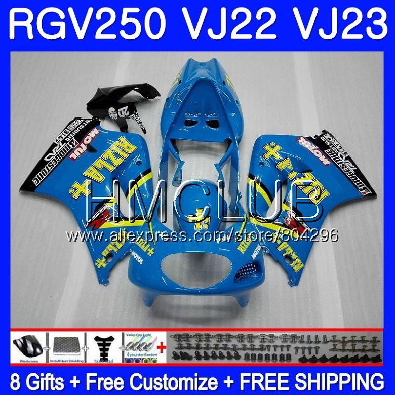 Body For SUZUKI VJ22 RGV250 88 94 95 96 97 98 RIZLA blue 38HM.4 RGV-250 VJ23 21 RGV 250 1988 1994 1995 1996 1997 1998 FairingBody For SUZUKI VJ22 RGV250 88 94 95 96 97 98 RIZLA blue 38HM.4 RGV-250 VJ23 21 RGV 250 1988 1994 1995 1996 1997 1998 Fairing