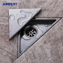 AODEYI ukryty typ trójkąt płytka wstaw odpływ podłogowy kratki odpływ prysznicowy 232mm * 117mm 304 podłoga ze stali nierdzewnej Drain11-184