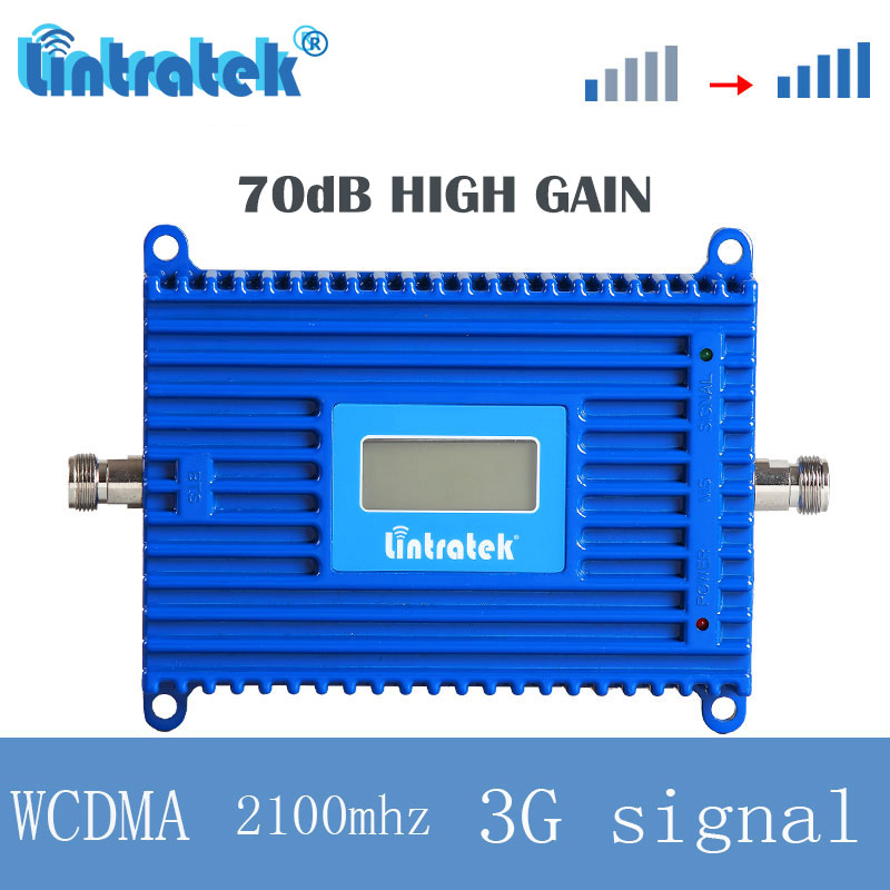 Lintratek 3g 2100 mhz UMTS cellular booster repeater signal WCDMA   mobile phone 70dB high gain booster Internet Amplifier s4Lintratek 3g 2100 mhz UMTS cellular booster repeater signal WCDMA   mobile phone 70dB high gain booster Internet Amplifier s4