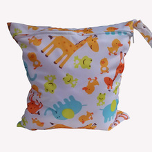 Useful Waterproof Reusable Zipper Baby Cloth Diaper Wet Dry Bag Swimmer Tote