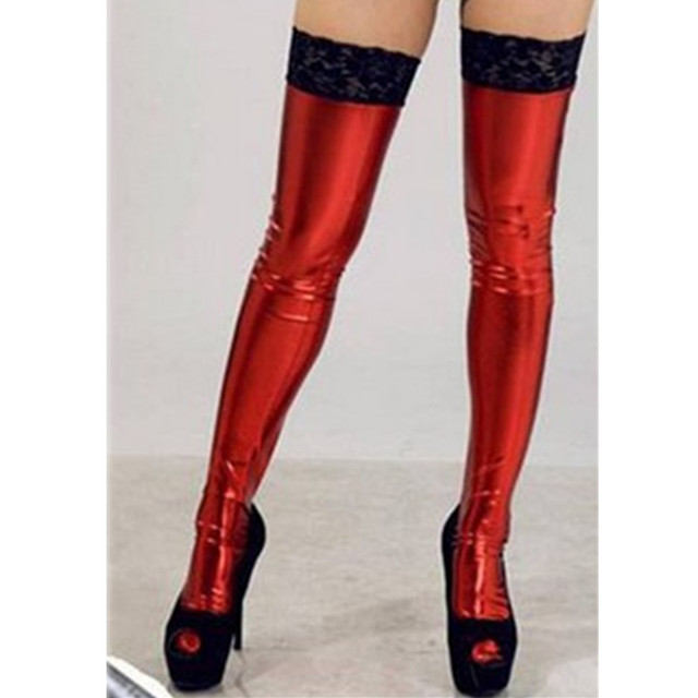 Lace Latex Stockings  4