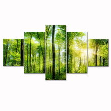Фотография Wall Home Decor Living Room Modern Painting on Canvas Forest Wall Art Modular Painting Posters and Prints Canvas Art Green Art