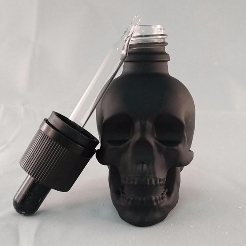 30ml Skull Shape Glass Dropper Bottle For E-juice Head Glass Eliquid Dropper Bottle Glass Dropper Bottle Jars Vials With Pipette
