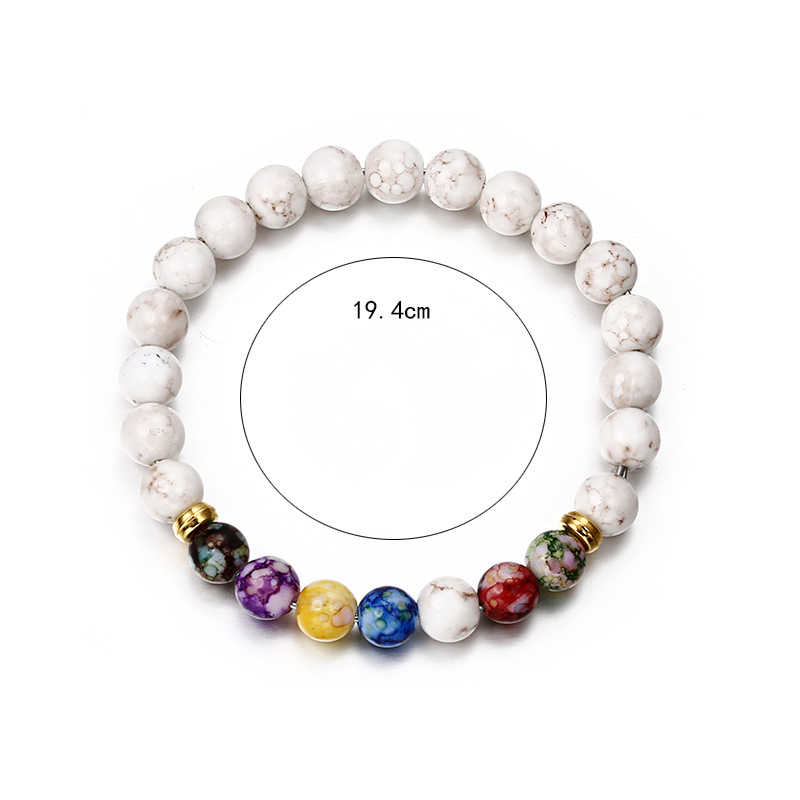Koop Buddha Armbanden 7 Chakra Healing Mala Meditatie Gebed Yoga Sieraden Vrouwen Armband Ronde Acryl Kralen Tiger Eye Kralen