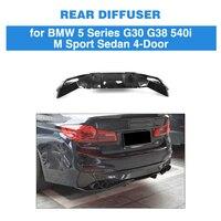 5 Series Carbon Fiber Replacement Rear Bumper Lip Spoiler Diffuser for BMW G30 M Sport Sedan 4 Door 2017 2018 2019 540i