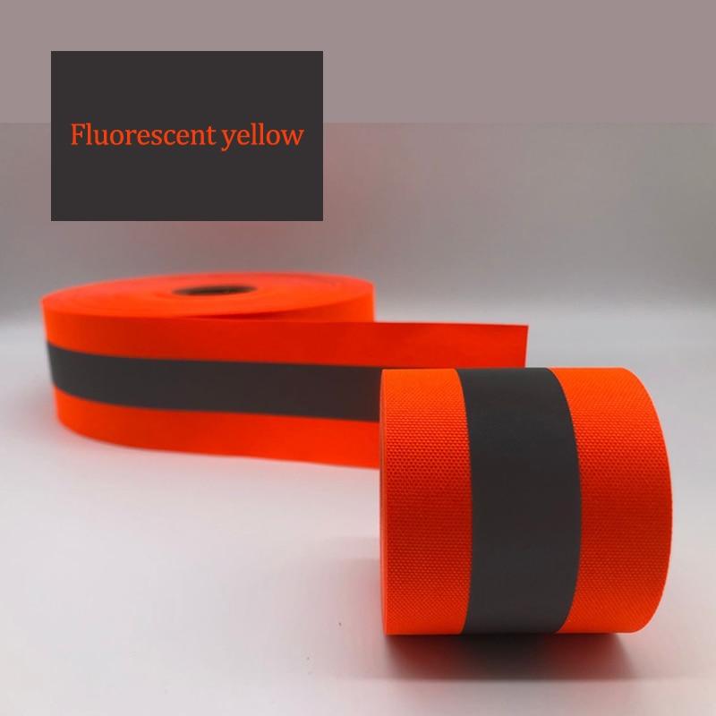 Image 3 - Флуоресцентная желтая и флуоресцентная оранжевая предупреждающая лента для безопасности швейной одеждыСигнальная лента    АлиЭкспресс