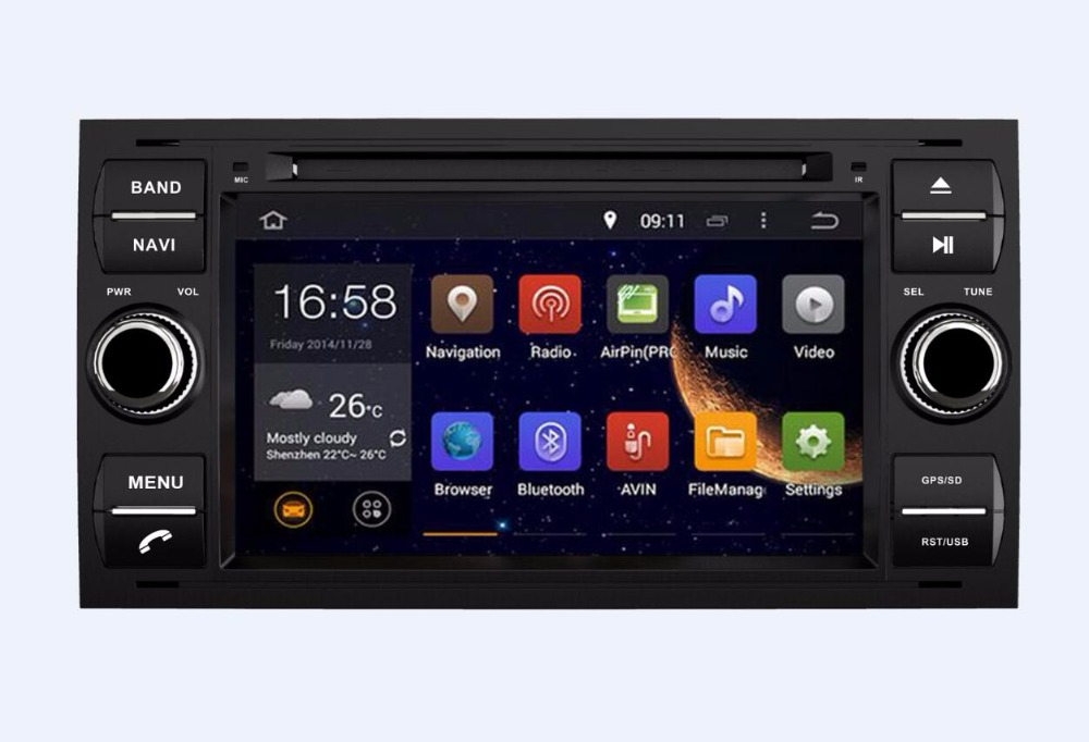 Android 6.0 Car DVD PLAYER For Ford Mondeo S-max Focus C-MAX Galaxy Fiesta Form Fusion Connect OCTA/8 core 2G 32G Radio stereo