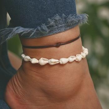Bohemian Multilayer Anklet Bracelet Shell Turtle Anklets For Women Summer Beach Barefoot Bracelet Ankles Fashion Beach Jewelry