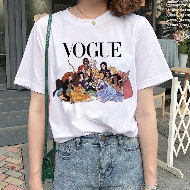 New Graphic Vogue T Shirt Women Fashion Harajuku Ullzang Cartoon T-shirt Funny Printed 90s Tshirt Korean Style Top Tees Female 11