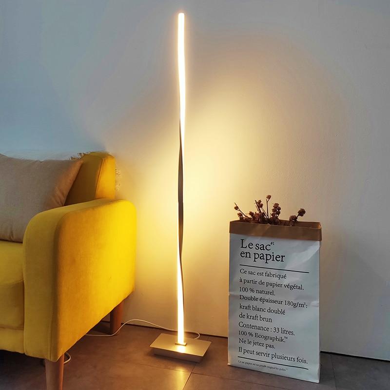 US $81.7 14% OFF|Nordic design LED floor lamp modern standing lamp  vloerlamp floor lamps for living room floor lamps Free Shipping DQ65321-in  Floor ...